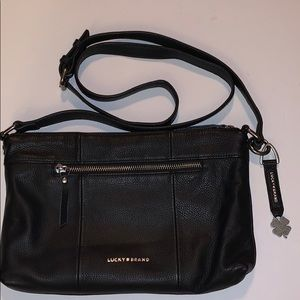 LUCKY BRAND Black leather crossbody bag purse